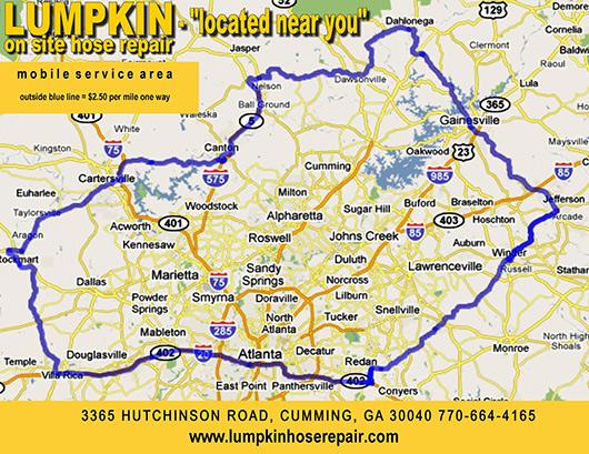 Hydraulic Hose Repair In Atlanta - Georgia map duluth